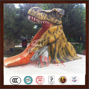Amusement Park Popular Dinosaur Head Slide Model For Sale