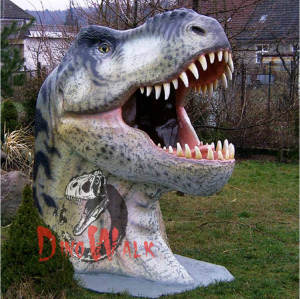 Theme Park Decoration Handmade Lifelike Dinosaur Head