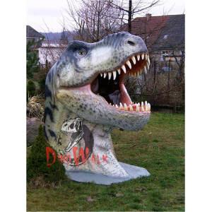 Theme Park Decoration Handmade Lifelike Dinosaur Head
