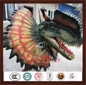 Amusement Park Artificial Dinosaur Head For Sale