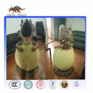 2017 Most Popular Environment Protection Dinosaur Trash Can For Outdoor