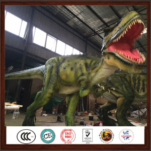 Jungle Theme Park Realistic Animatronic Life Size Dinosaur Display