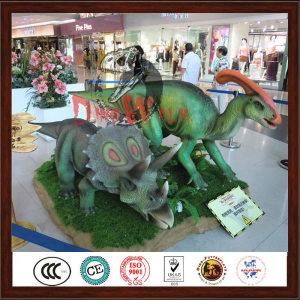 Supermarket decoration animated robotic dinosaur