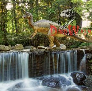 Prehistoric park realistic life size dinosaur model