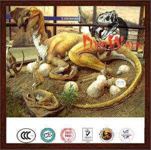 Amusement park vivid life size simulation dinosaur statue