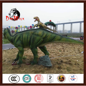 Amusement park artificial dinosaur model