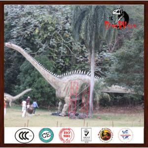 Outdoor dinosaur theme park animatronic dinosaur diplodocus