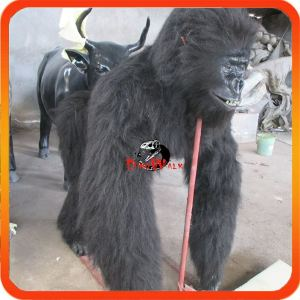 Theme park realistic walking animatronic gorilla costume for sale
