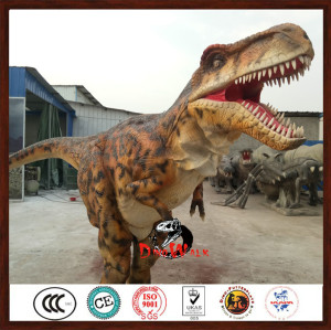 Factory price realistic dinosaur costume hidden legs