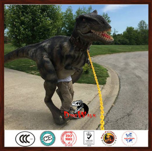 Adult walking with Animatronic Dinosaur Costume For Sale