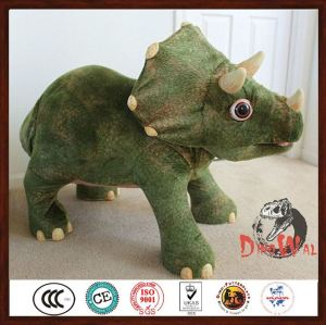 Indoor Animatronic Rubber toy dinosaurs car for children