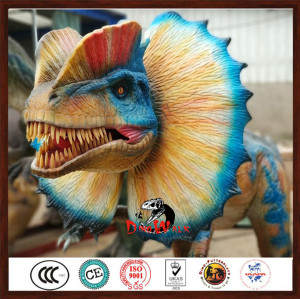 high quality animatronic Dilophosaurus model for dinosaur park