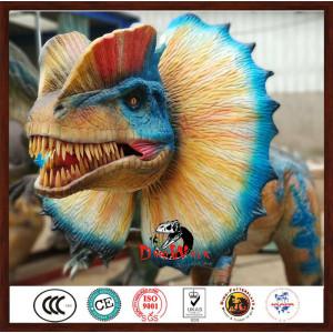 high quality animatronic Dilophosaurus model for dinosaur park