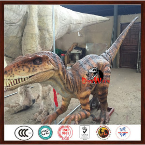 animatronic lifesize realistic velociraptor model for dino park