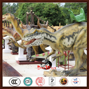 Animatronic Kiddie Dinosaur Rides In Coin Operated