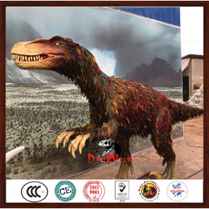 high quality animatronic dinosaurs with feathers for dinosaur park