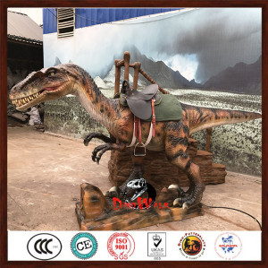 high quality animatronic raptor ride for amusement park