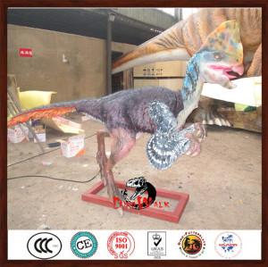 animatronic dinosaur model with feathers