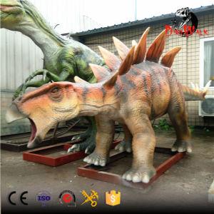 Theme park life size animatronic dinosaur statue stegosaurus
