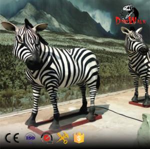 Zoo decoration high quality lifesize zebra animatronic model