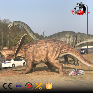 animatronic Triceratop sdinosaur model for dinosaur park
