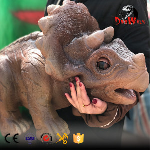 animatronic dinosaur Triceratops puppet with best price