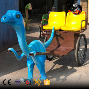 Amuseum park animatronic dinosaur rickshaws for kids