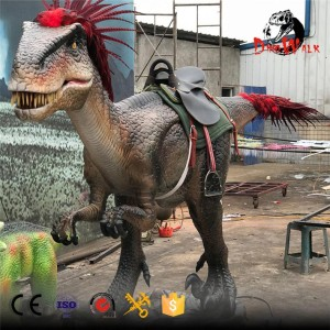 Amuseum park animatronic stationary dinosaur ride for sale