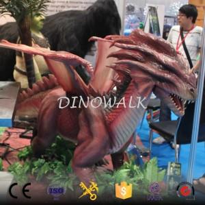 Animatronic life size realistic dragon model for sale