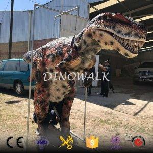 Hidden Leg Walking Dinosaur Costume For Adult
