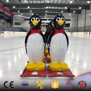Ice Skating Life Size Fiberglass Penguin Skating for Children