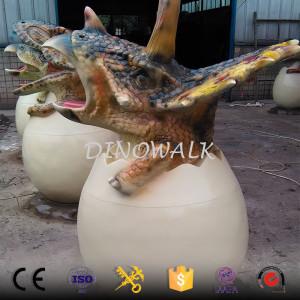 Playground Attractive Cartoon Dinosaur Trash Can