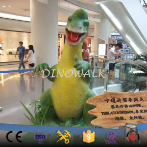Realistic Artificial Life Size Cute Cartoon Dinosaur For Sale