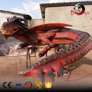 animatronic red dragon model with high quality