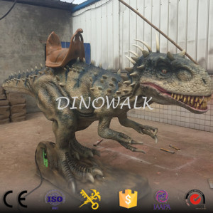 Amusement Park Playground  Animatronic Dinosaur Walking Ride Model for Sale