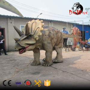 walking Triceratops dinosaur costume