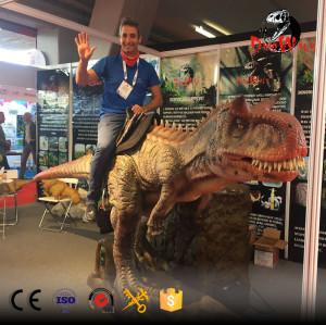 coin operated animatronic dinosaur Carnotaurus rides