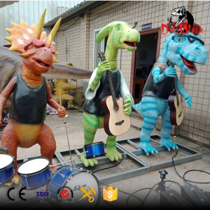 Animatronic dinosaur band for dino park