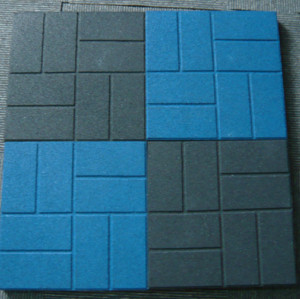 Square Rubber Flooring Tile