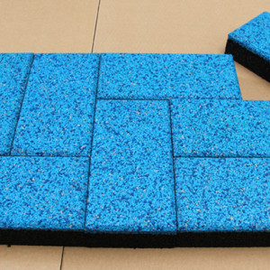 Blue Rubber Flooring Tiles
