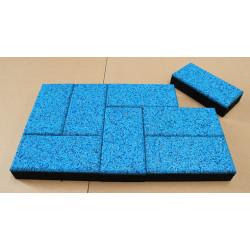 Blue Rubber Flooring Tiles