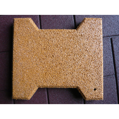 Bone Shape Rubber Tile