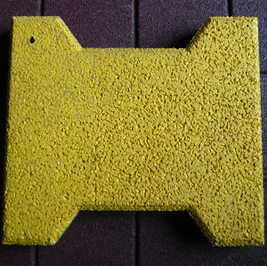 Yellow Bone Shape Rubber Tiles