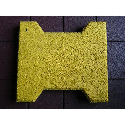 Yellow Bone Shape Rubber Tiles