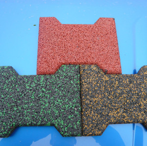 Colorful EPDM Bone Shape Rubber Tile