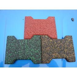 Colorful EPDM Bone Shape Rubber Tile