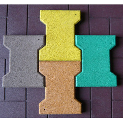 Colorful EPDM Bone Shape Rubber Tiles