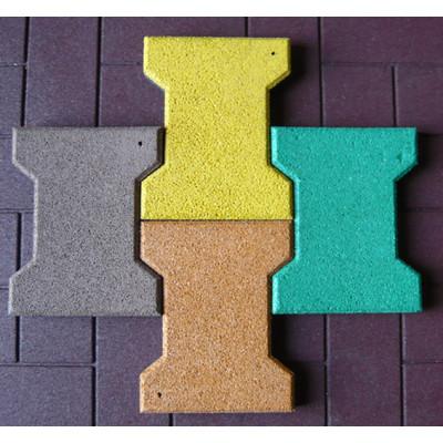 Colorful EPDM Bone Shape Rubber Tiles