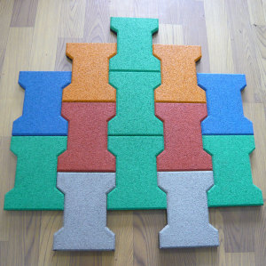 Colorful Epdm Dog-bone Rubber Tiles