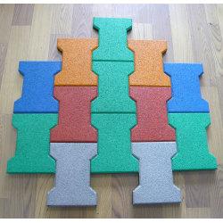 Colorful Epdm Dog-bone Rubber Tiles